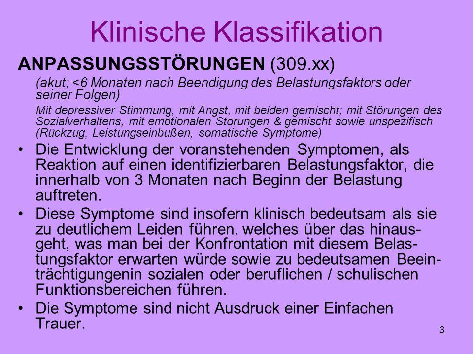 Klinische Klassifikation