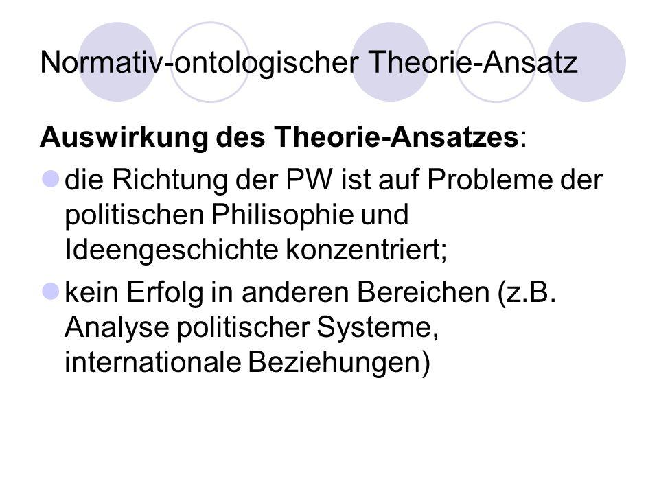 Normativ-ontologischer Theorie-Ansatz