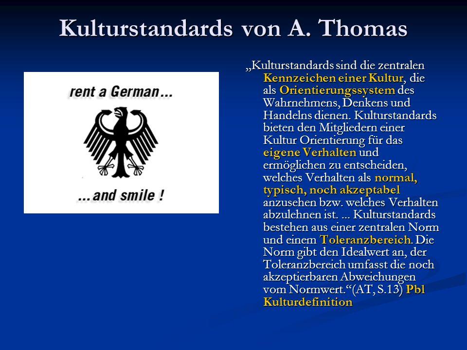 Kulturstandards von A. Thomas