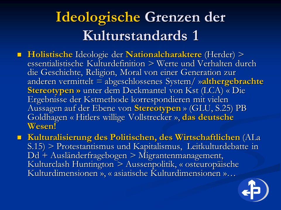 Ideologische Grenzen der Kulturstandards 1