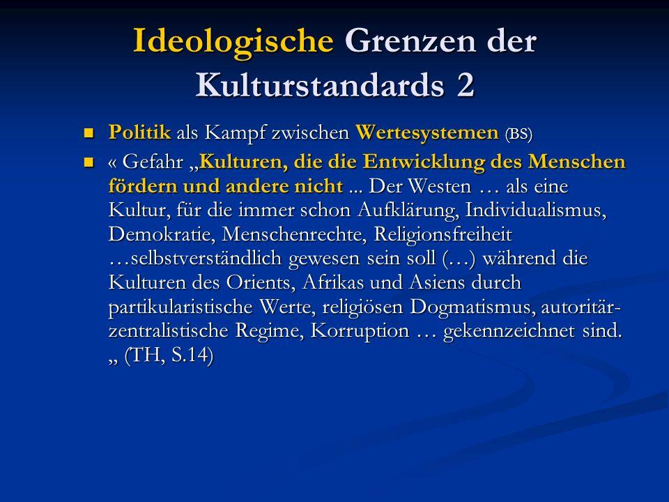 Ideologische Grenzen der Kulturstandards 2