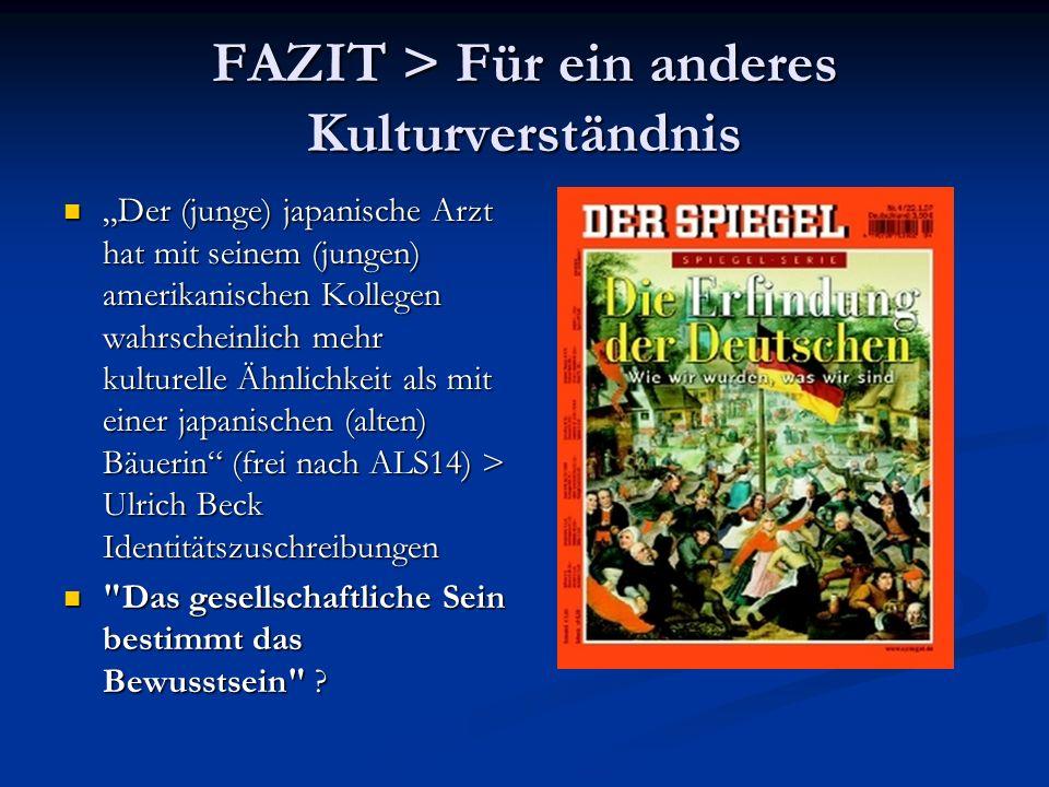 FAZIT > Für ein anderes Kulturverständnis