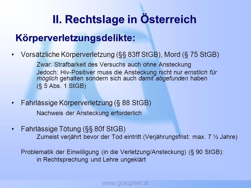 II. Rechtslage in Österreich