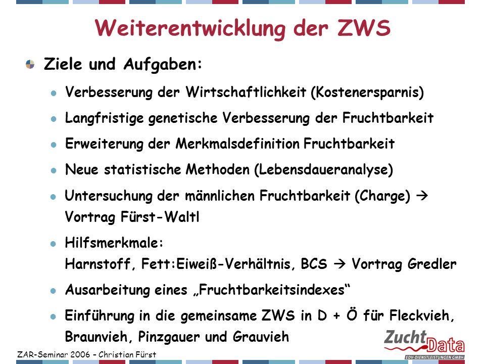 Weiterentwicklung der ZWS
