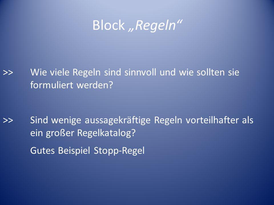 """Block """"Regeln"""