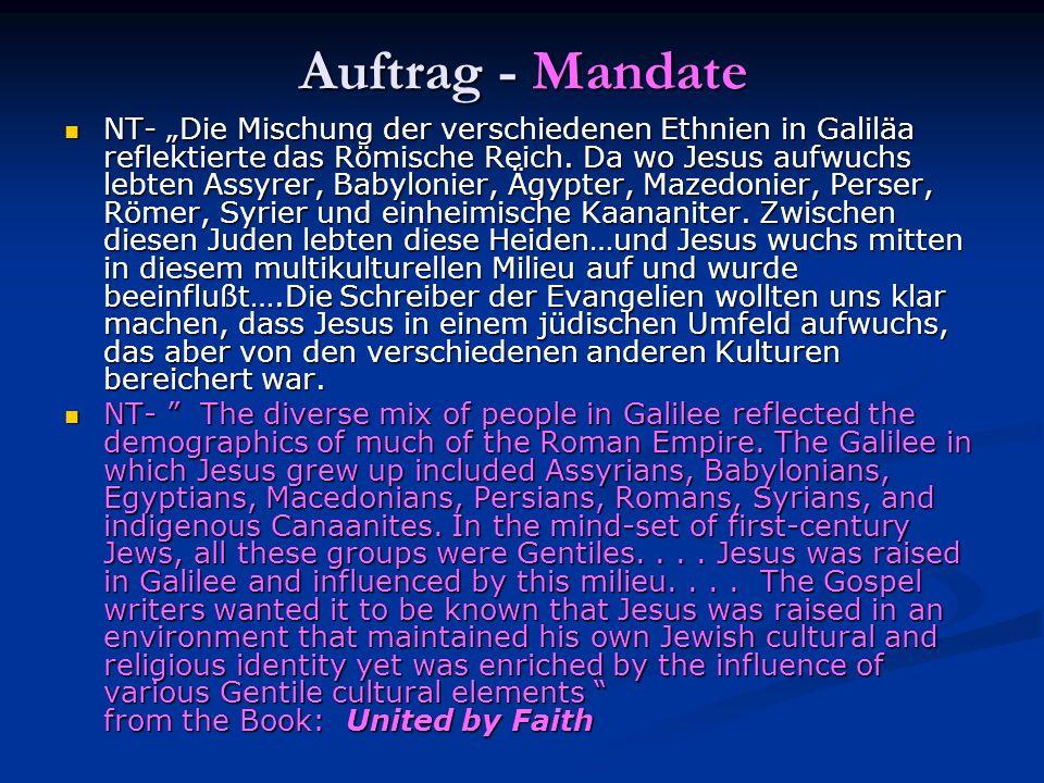 Auftrag - Mandate