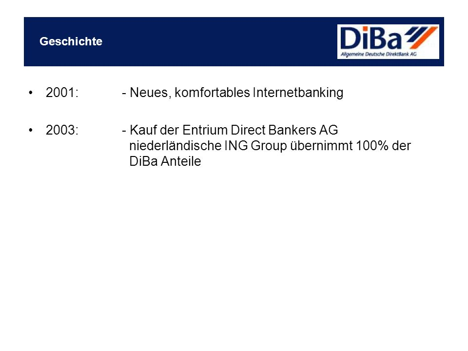 2001: - Neues, komfortables Internetbanking