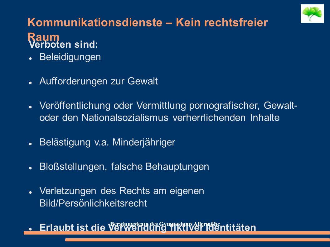 Kommunikationsdienste – Kein rechtsfreier Raum