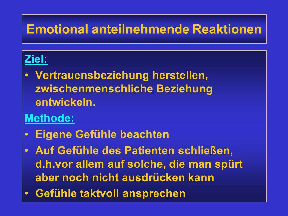 Emotional anteilnehmende Reaktionen