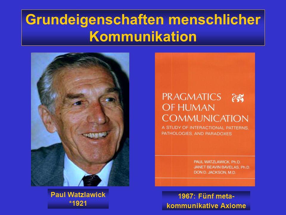 Grundeigenschaften menschlicher Kommunikation