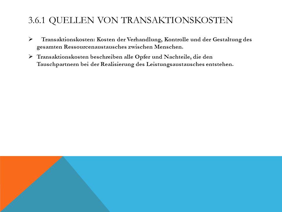 3.6.1 Quellen von Transaktionskosten
