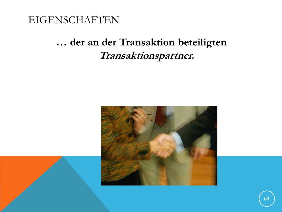 … der an der Transaktion beteiligten Transaktionspartner.