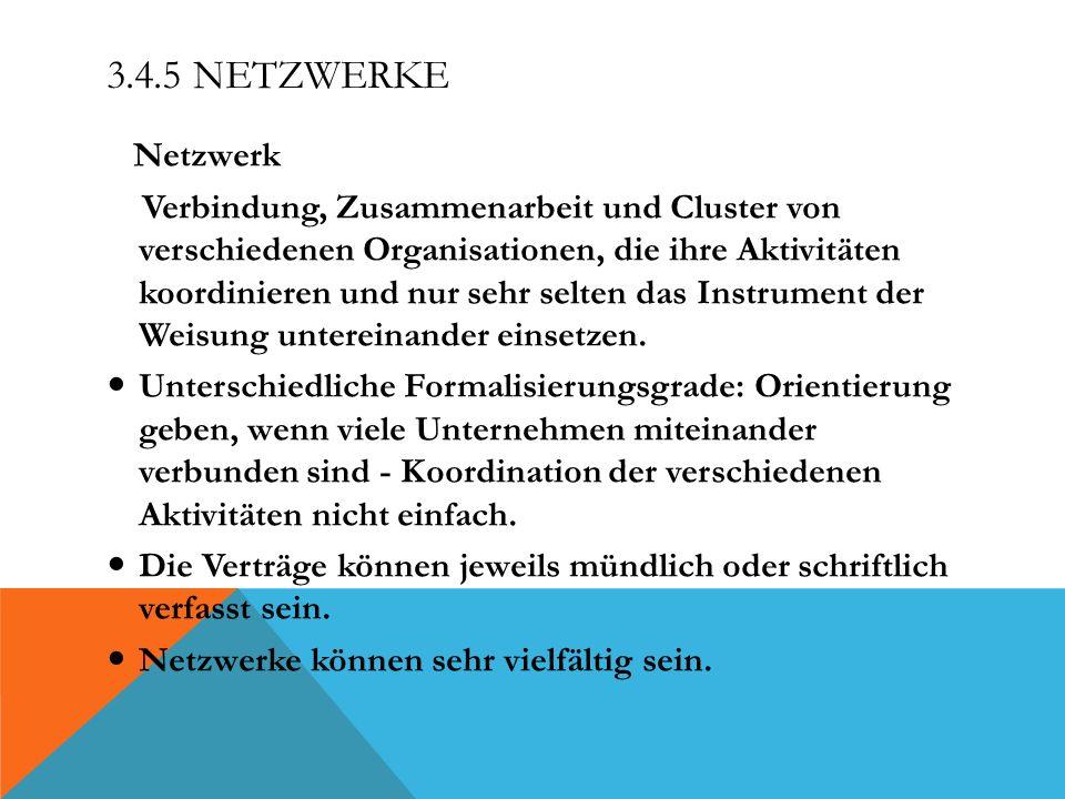 3.4.5 Netzwerke Netzwerk.