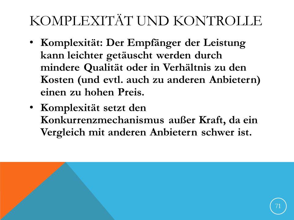 Komplexität und Kontrolle