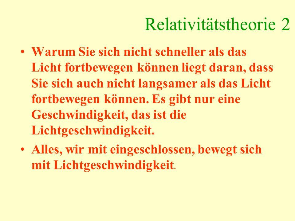 Relativitätstheorie 2