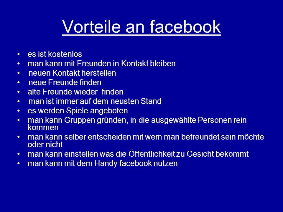 Vorteile an facebook es ist kostenlos