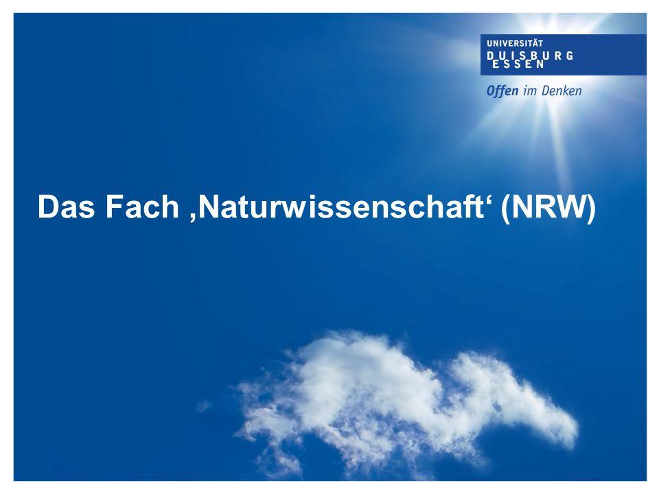 Das Fach ,Naturwissenschaft' (NRW)