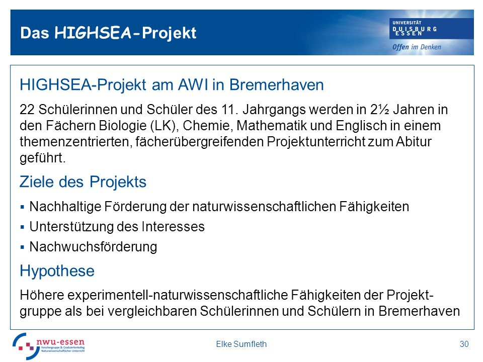 HIGHSEA-Projekt am AWI in Bremerhaven