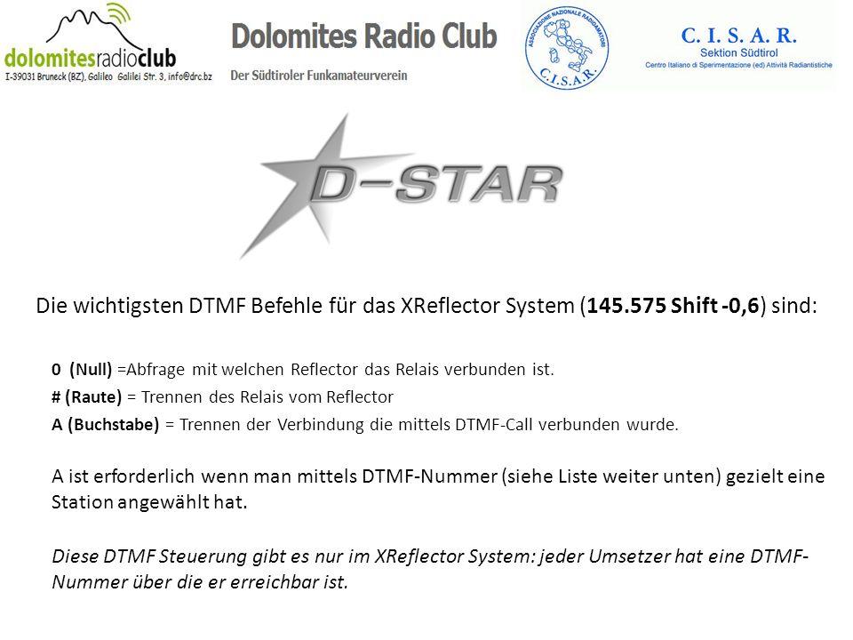 Die wichtigsten DTMF Befehle für das XReflector System (145