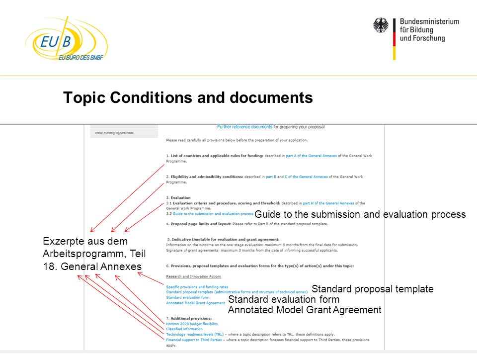 Topic Conditions and documents