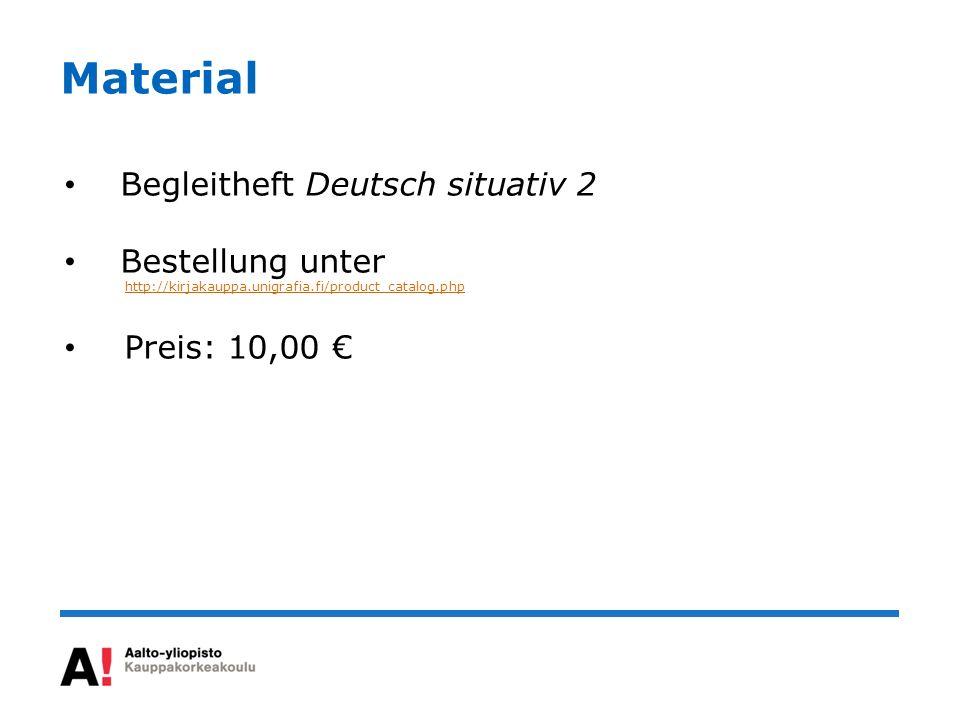 Material Begleitheft Deutsch situativ 2 Bestellung unter
