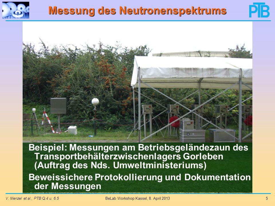 Messung des Neutronenspektrums