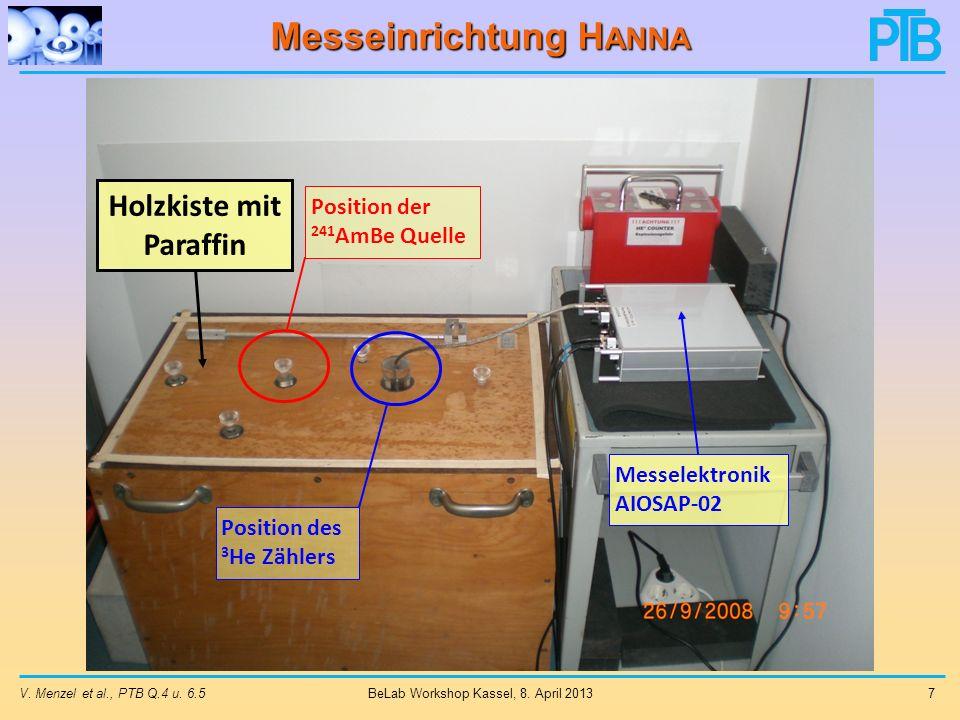 Messeinrichtung Hanna