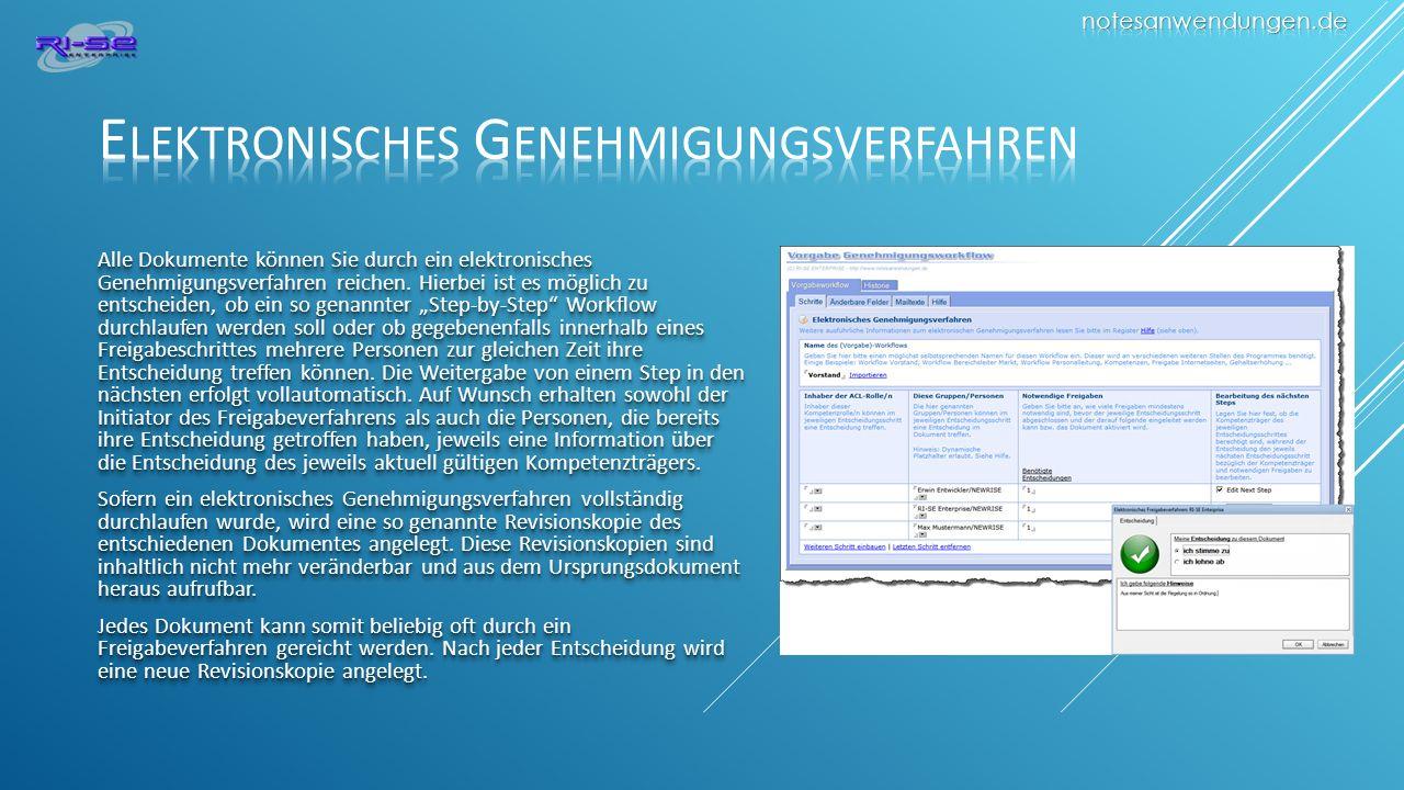 Elektronisches Genehmigungsverfahren