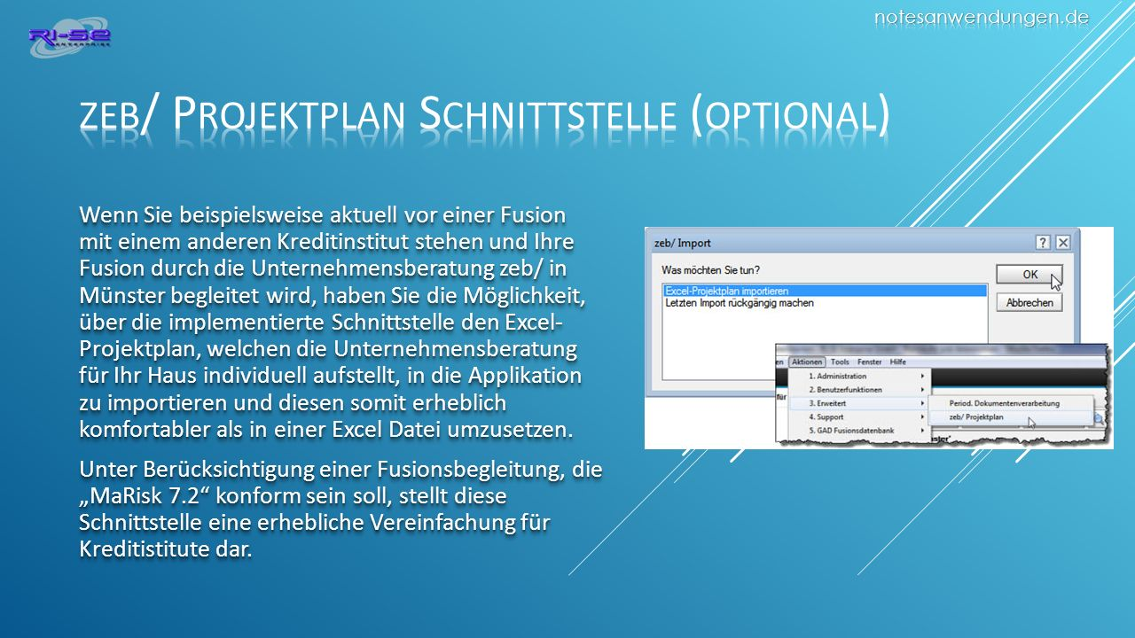 zeb/ Projektplan Schnittstelle (optional)