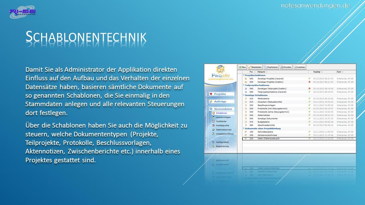 notesanwendungen.de Schablonentechnik.