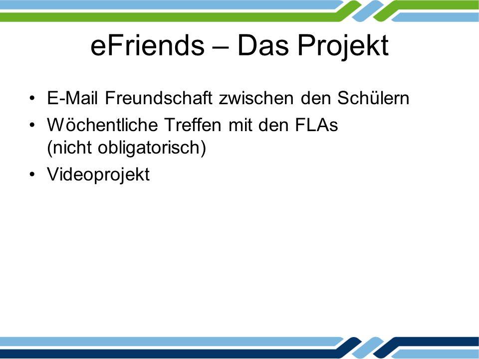 eFriends – Das Projekt E-Mail Freundschaft zwischen den Schülern