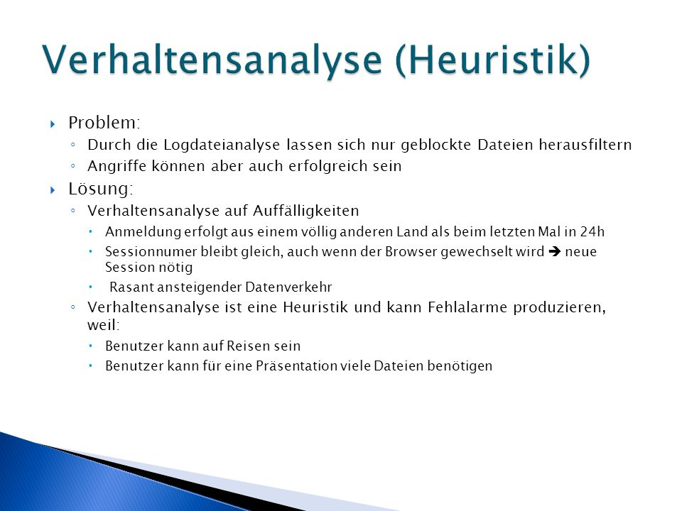 Verhaltensanalyse (Heuristik)