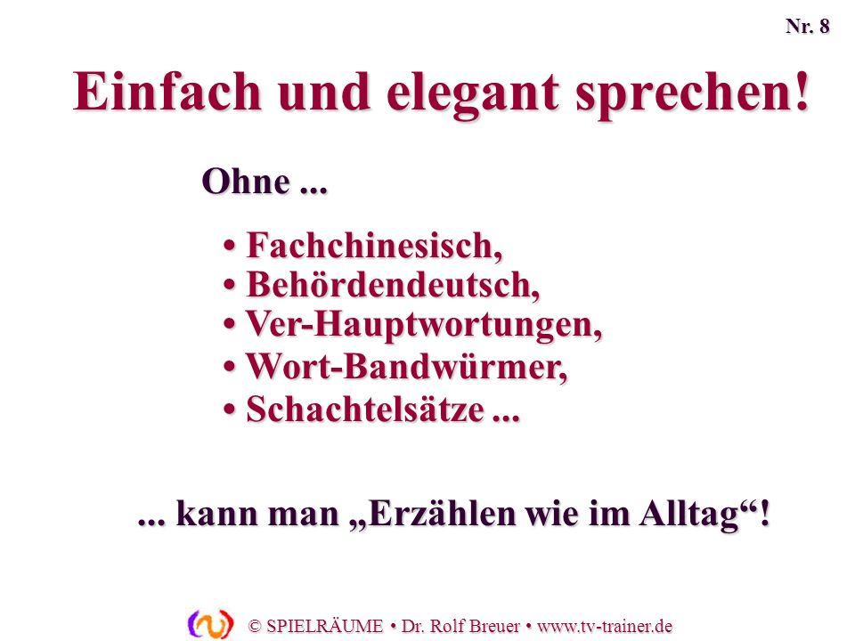 Einfach und elegant sprechen!