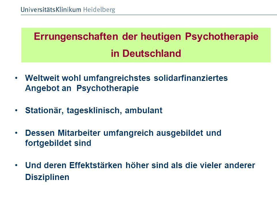 Errungenschaften der heutigen Psychotherapie in Deutschland