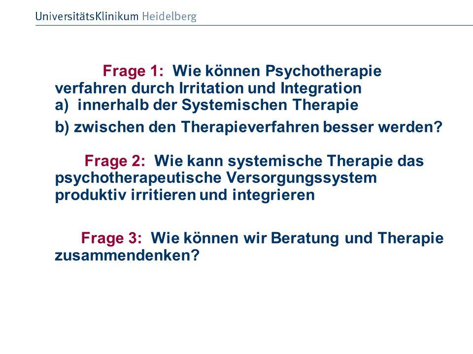Frage 3: Wie können wir Beratung und Therapie zusammendenken
