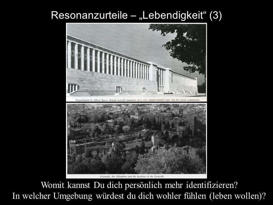 """Resonanzurteile – """"Lebendigkeit (3)"""
