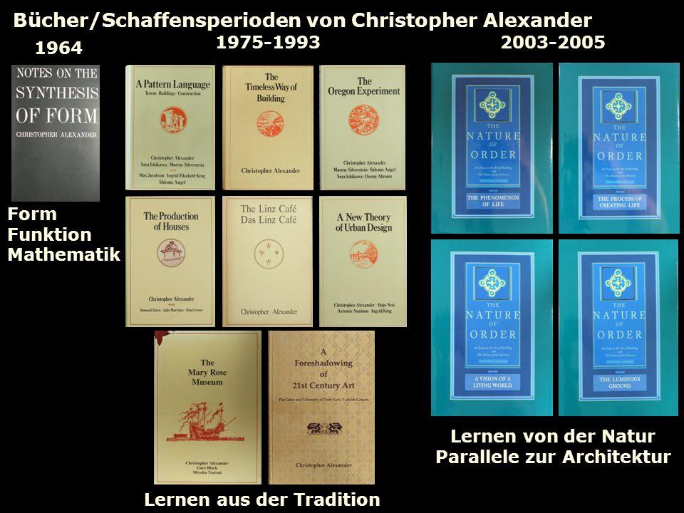 Bücher/Schaffensperioden von Christopher Alexander