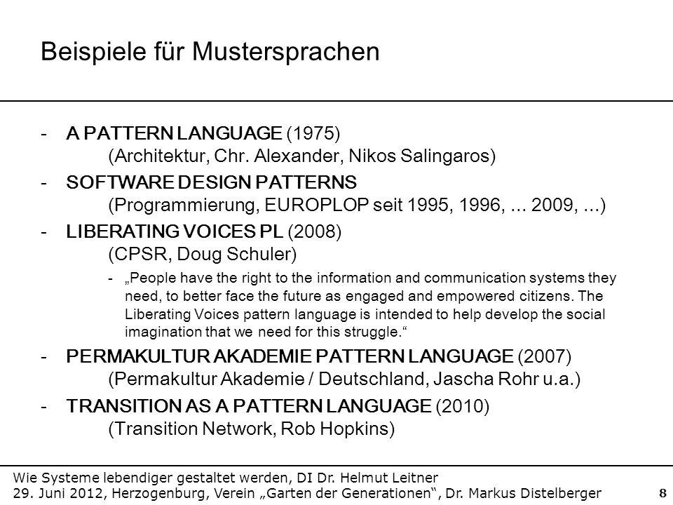 Beispiele für Mustersprachen