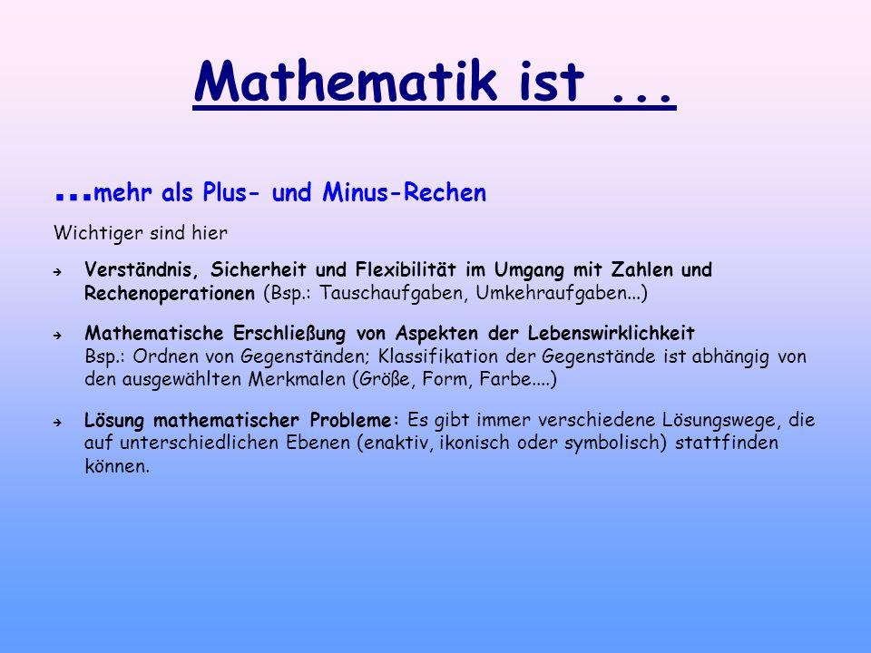 Mathematik ist ... ...mehr als Plus- und Minus-Rechen