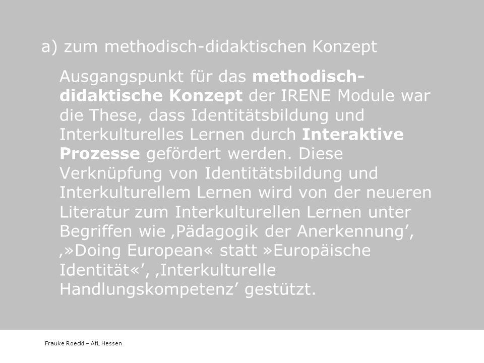 a) zum methodisch-didaktischen Konzept