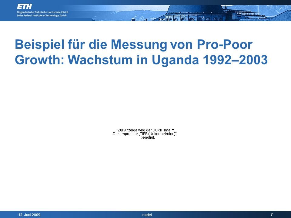 Beispiel für die Messung von Pro-Poor Growth: Wachstum in Uganda 1992–2003