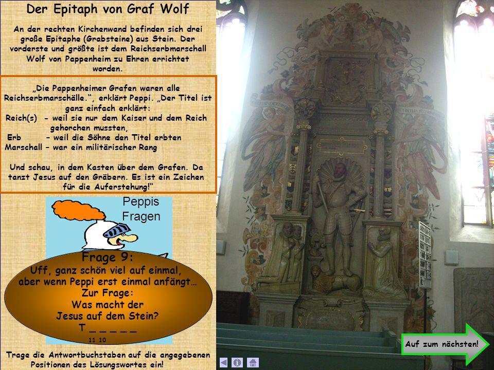 Der Epitaph von Graf Wolf Frage 9: