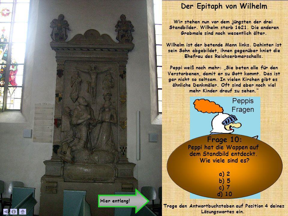 Der Epitaph von Wilhelm Frage 10: