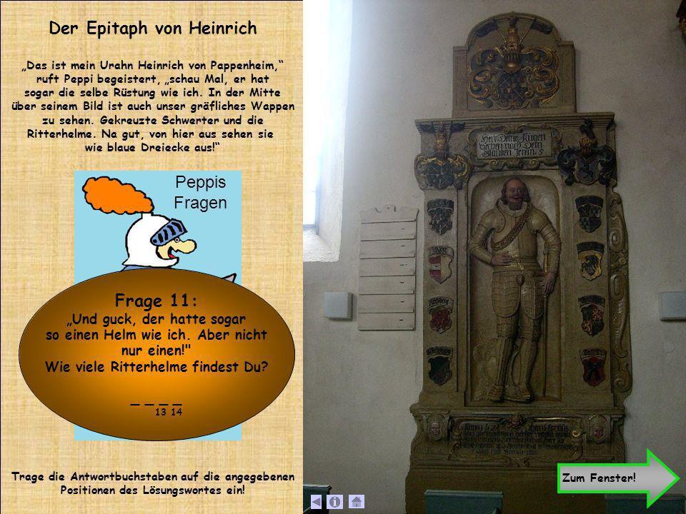 Der Epitaph von Heinrich Frage 11:
