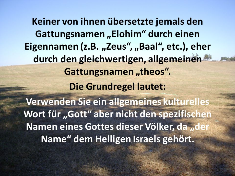 Die Grundregel lautet: