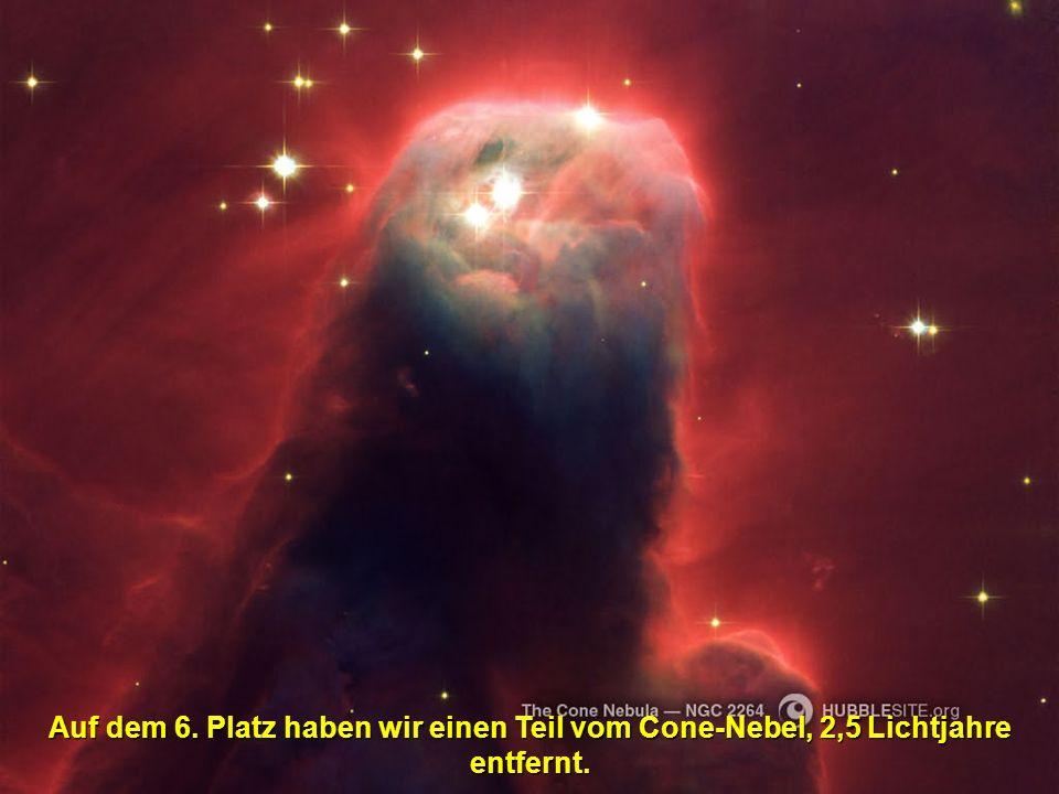 Auf dem 6. Platz haben wir einen Teil vom Cone-Nebel, 2,5 Lichtjahre entfernt.
