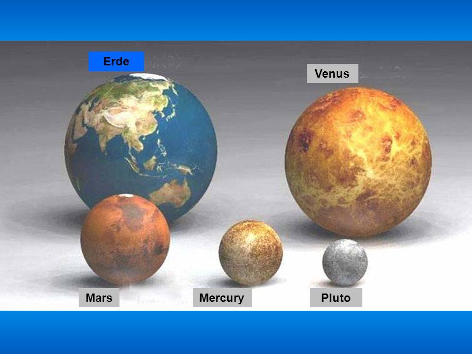 Erde Venus Mars Mercury Pluto