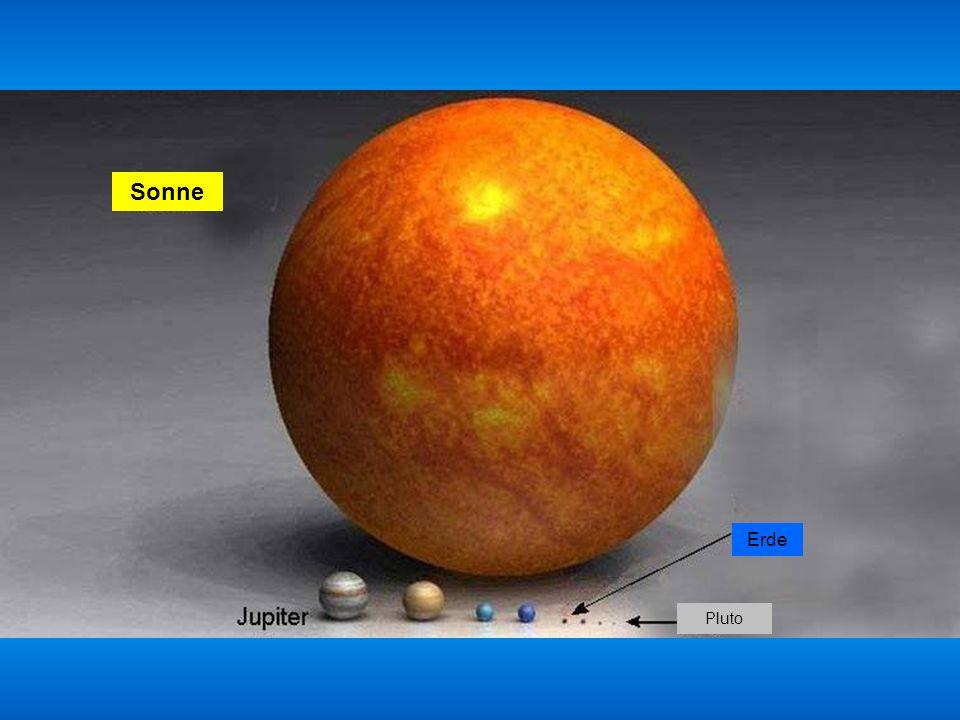 Sonne Erde Pluto