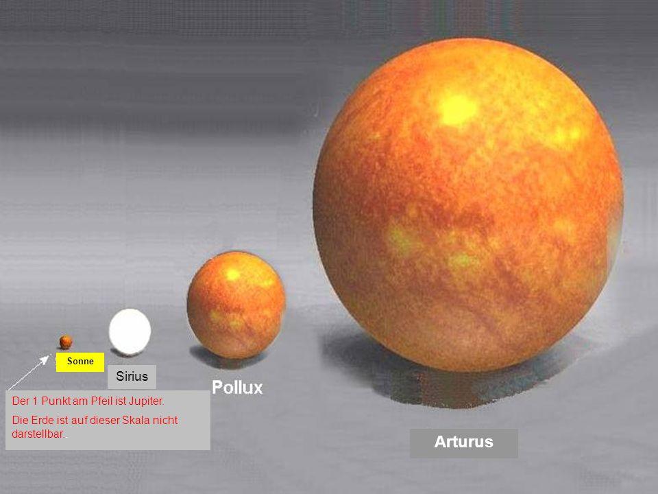 Arturus Sirius Der 1 Punkt am Pfeil ist Jupiter.