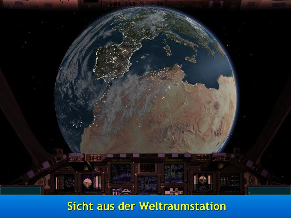 Sicht aus der Weltraumstation